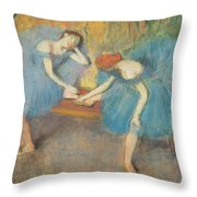 Two Dancers At Rest Throw Pillow