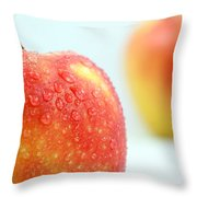 Two Red Gala Apples Throw Pillow