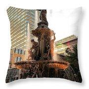 Tyler Davidson Fountain Throw Pillow