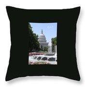 U S Capitol Throw Pillow