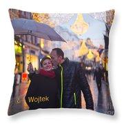 Ula And Wojtek Engagement 12 Throw Pillow
