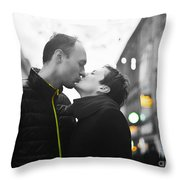 Ula And Wojtek Engagement 8 Throw Pillow