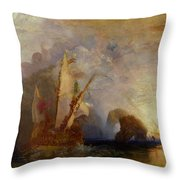 Ulysses Deriding Polyphemus Throw Pillow