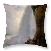 Underneath Niagara Falls Throw Pillow