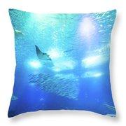 Undersea Deep Background Throw Pillow