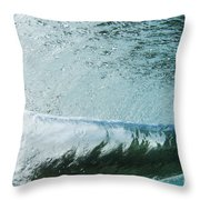 Underwater Barrel Throw Pillow