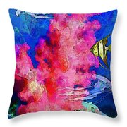 Underwater. Coral Reef. Throw Pillow