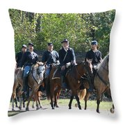 Union Cavalry Throw Pillow