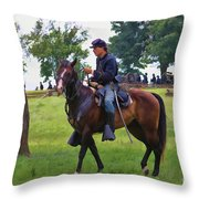 Union Cavalryman Throw Pillow