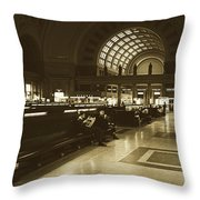 Union Station, Washington Dc 1963 Throw Pillow