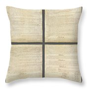 United States Constitution, Usa Throw Pillow