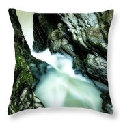 Up The Down Waterfall Throw Pillow