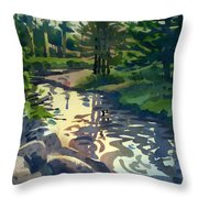 Up With The Fishes Throw Pillow