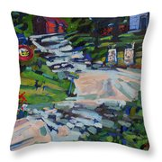 Uphill In Rockport Throw Pillow