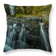 Upper Boulder Creek Falls Throw Pillow