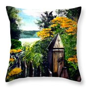 Upstate Winery Throw Pillow