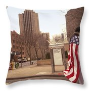 Urban Flag Man Throw Pillow