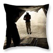 U.s. Air Force Pararescuemen Jump Throw Pillow