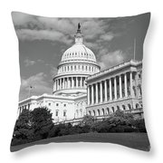Us Capitol Washington Dc Throw Pillow