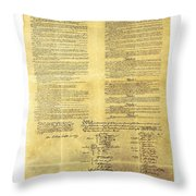 U.s Constitution Throw Pillow