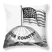U.s. Flag, 19th Century Throw Pillow