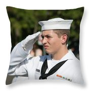 Us Naval Sea Cadet Corps - Gulf Eagle Division, Cape Coral, Florida Throw Pillow