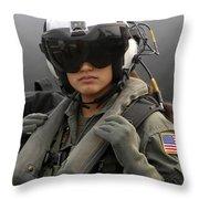 U.s. Navy Aviation Warfare Systems Throw Pillow