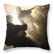 U.s. Navy Seals Give First Aid Throw Pillow
