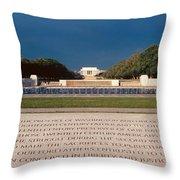 U.s. World War II Memorial Throw Pillow