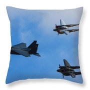 Usaf Heritage Flight Throw Pillow