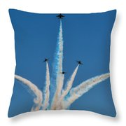 Usaf Thunderbirds Media Day 2 Throw Pillow