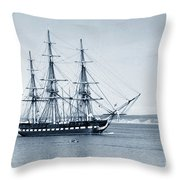 Uss Constitution Old Ironsides In Monterey Bay Oct. 1933 Throw Pillow