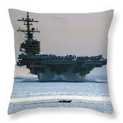 Uss George H.w. Bush Throw Pillow