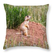 Utah Prairie Dog Throw Pillow