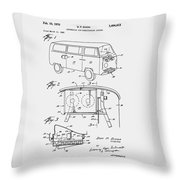 V W Van Patent 1970 Throw Pillow