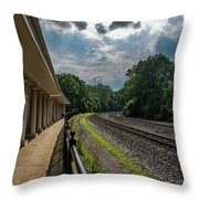 Valley Forge Train Station  Throw Pillow