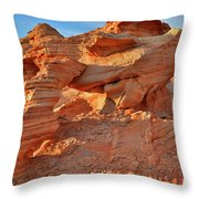 Valley Of Fire Arch At Sunrise Throw Pillow