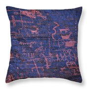 Valley Of Fire Petroglyphs Throw Pillow