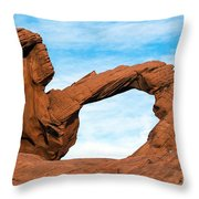 Valley Of Fire State Park Arch Rock Throw Pillow