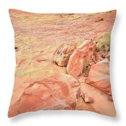 Valley Of Fire's Wash 3 Throw Pillow