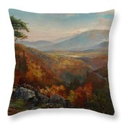 Valley Of The Catawissa In Autumn Throw Pillow