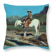 Valley Of The Moon  Throw Pillow