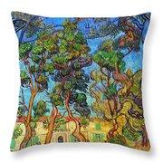 Van Gogh: Hospital, 1889 Throw Pillow by Granger