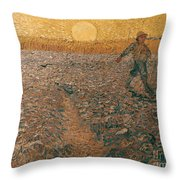 Van Gogh: Sower, 1888 Throw Pillow