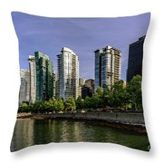 Waterfront Of Vancouver, Canada Throw Pillow