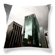 Vancouver Skyline Canada Throw Pillow