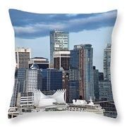 Vancouver Skyline Throw Pillow