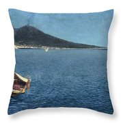 Veduta Del Vesuvio Throw Pillow