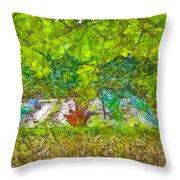 Vegetable Garden Throw Pillow