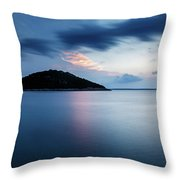 Veli Osir Island At Dawn, Losinj Island, Croatia. Throw Pillow